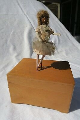 Antique 2 Airs French Ballerina Music Box France