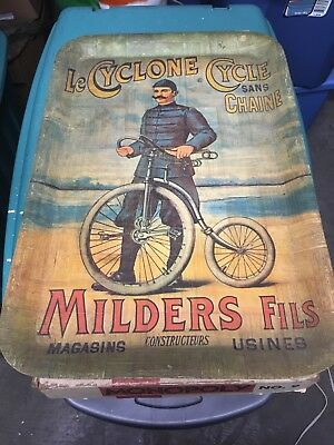 Le Cyclone Cycle Bamboo Tray Vintage