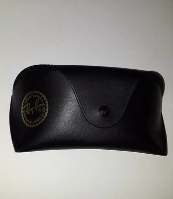 Ray-Ban Black Luxottica Protective Leather Case for Glasses or Sunglasses