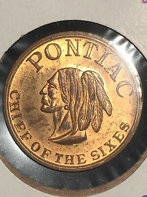 Pontiac Chief of the Sixes Token - Product of General Motors- circa 1953