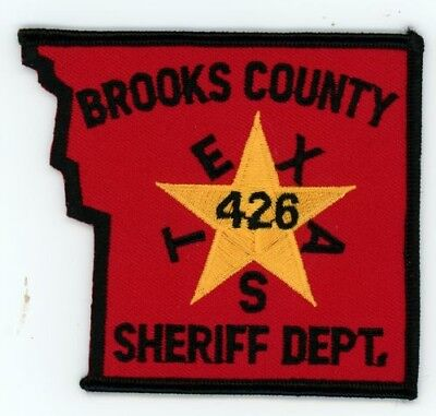 Brooks County Sheriff Texas Tx Police Patch Colorful