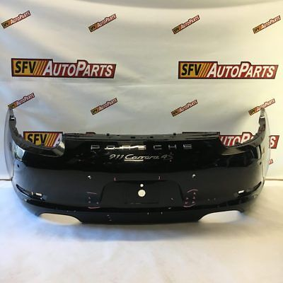 Porsche 911 Carrera 4S Rear Bumper 2013 2014 2015 2016 991 505 411 05 Black Oem