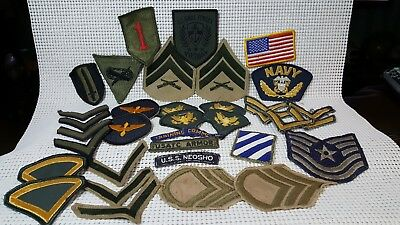 Large Mixed Lot Of Us Military Patches Army - Navy - Airforce - Marines ??