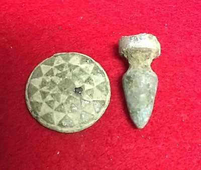 Flower Button Front Bayonet Scabbard Tip Civil War Relic Trenches Petersburg