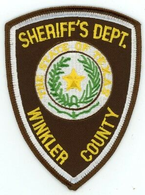 Winkler County Sheriff Texas Tx Police Patch Old Vintage Rare