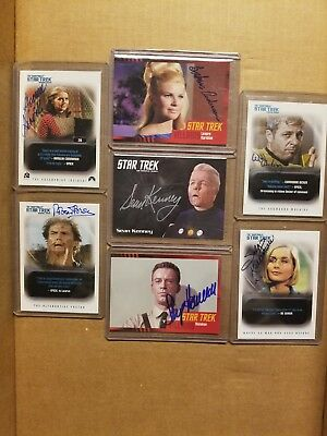 Star Trek TOS auto lot of 7 hand signed autograph cards
