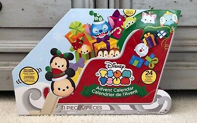 Disney Tsum Tsum Christmas Holiday Advent Calendar 31 Pieces *NEW IN BOX*