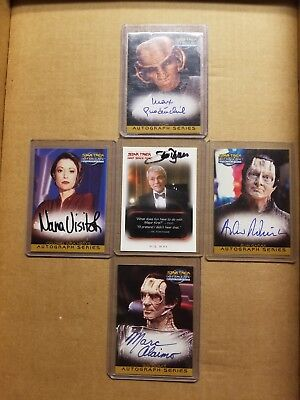 Star Trek DS9 auto lot of 4 hand signed autograph cards