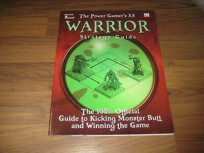 d20 system The Power Gamer's 3.5 Warrior Strategy Guide goodman games 2004 SC VG