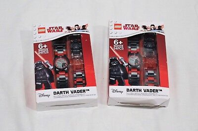 Lego Star Wars Watch Darth Vader Youth 6+ and Up Black Red Lot of 2