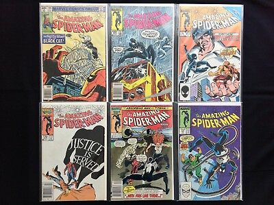 AMAZING SPIDER-MAN Lot of 6 Marvel Comic Books - #205 254 273 278 283 297!