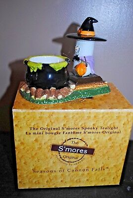 NIB The Orignal S'mores Spooky Tealight Halloween Witch Candle Holder