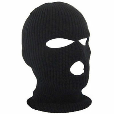 3 Hole Face Mask Ski Mask Winter Cap Balaclava Hood Army Tactical Warm Thermal