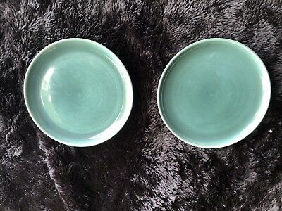 Mid-Century Russel Wright Steubenville Pottery -  2 Seafoam Bread/Butter Plates