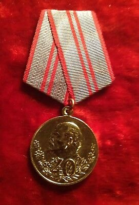 Russian Soviet USSR Medal 40th Anniversary Of The Armed Forces Original