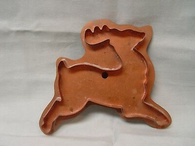 Martha Stewart Solid Copper PRANCING REINDEER Large Cookie Cutter Christmas