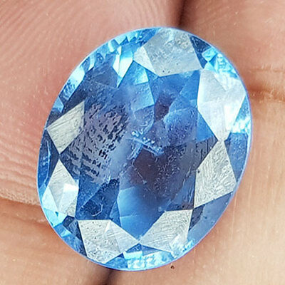 12.13 Cts 15X12Mm Vs1 Oval Santa Maria Blue Natural Aquamarine Loose Gemstone