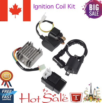 Ignition Coil Relay Rectifier CDI Kit for Chinese ATV Quad 150cc 200cc 250cc CA