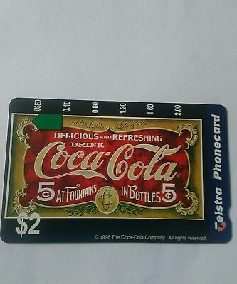 $2 Mint Coca Cola Phonecard Complimentary Issue Prefix 1202