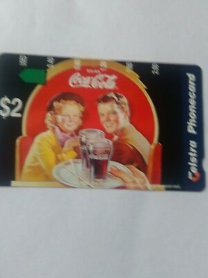 $2 Mint Phonecard Coca Cola Complimentary Issue SP 4 Prefix 1205