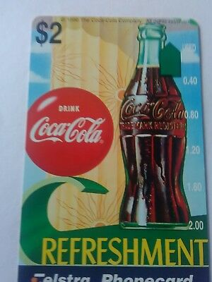 $2 Mint Phonecard Coca Cola Complimentary Issue SP No 6 Prefix 1208