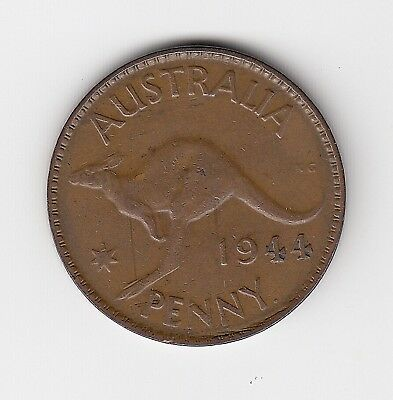 1944P Australia Kgvi Penny - Nice Collectable Vintage Coin