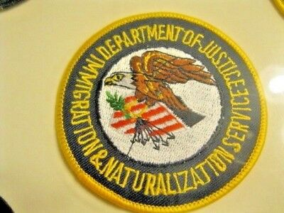 Patch U.s Dept Of Justice Service Eagle Free Ship  Nos From Estate