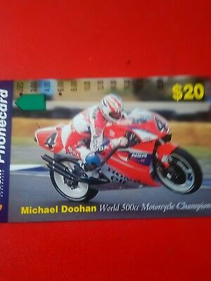 Scarce $20 2 Hole Phonecard Michael Doohan Prefix 817