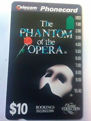 $10 Mint Phonecard Phantom Of The Opera Prefix 750