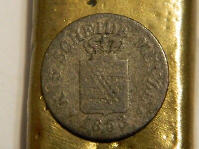 Ancient 1800's Silver Coin Pirate Shipwreck Era Old German Antique  -- Lot #472
