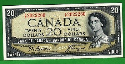 Canada - 1954 Bank of Canada 20 Dollar Banknote P80a/BC-41a  Extra Fine QEll