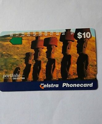 Scarce Mint Phonecard Man Made Wonders Easter Island prefix 1420