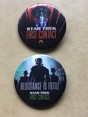 Star Trek First Contact Movie Theatre Promotional Buttons