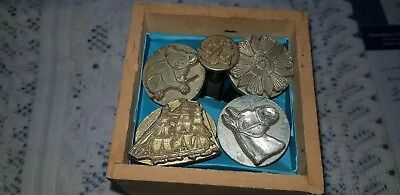 Vintage Embossing Tools For Leather Solid Brass Made In Usa