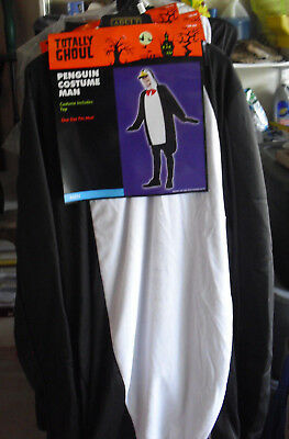 New Mens One Size Halloween Costume Totally Ghoul Penguin Man NEW