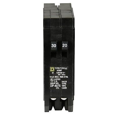 Square D by Schneider Electric HOMT3020CP Homeline 1-30-Amp 1-20-Amp Single-P...