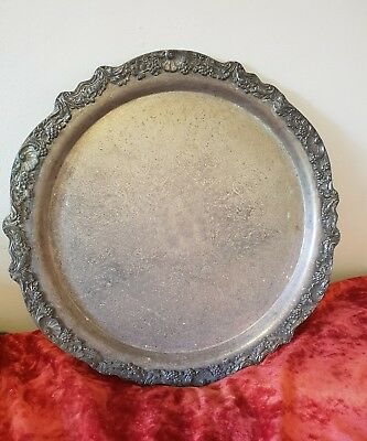 F.B. Rogers 1883 Silver Plated Large Platter w/ Floral Design