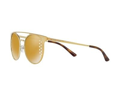 9467ad7a0c737 NIB Michael Kors MK1030 Grayton Womens Round Gold Tone Mirrored Sunglasses   139