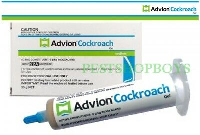 Genuine Syngenta Advion Cockroach German Roach Control Gel bait 1 tube