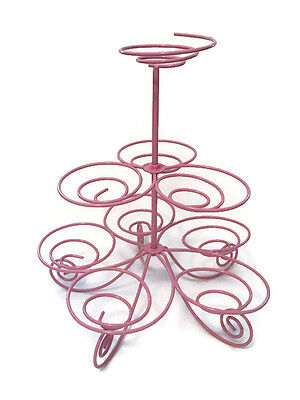 3 Tier Cup Cake Stand Holder Kitchen Christmas/Wedding Party Display Metal pink