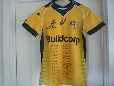 Signed 2018 Walleroos jersey (short sleeved) authentic Asics gear XS size: BNWT