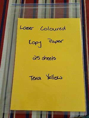 A4 Coloured Paper - Yellow -  80 Gsm (25 Sheets)