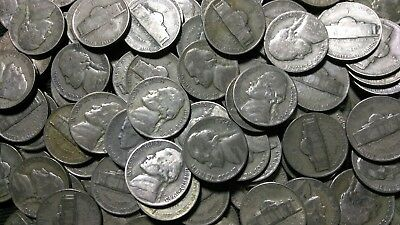 1942-1945 Assorted Silver War Nickels- No Damaged or Cleaned Coins!