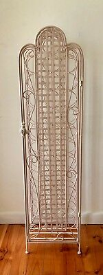 French Provincial Vintage 34 Bottle Wrought Iron Solid Wine Rack