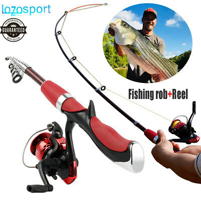 Casting Fishing Rod Reel Line Combo Full Kit Pole with Spinning Gear Set 4.6ft