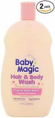 Baby Magic Hair and Body Wash Original Baby Scent 16.5 Ounces Pack of 2