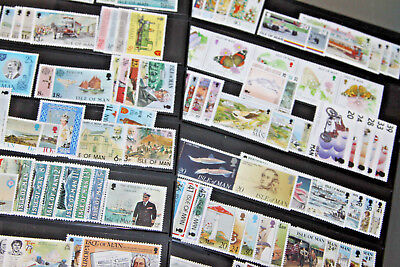 ISLE OF MAN 1970's-90's LARGE UNMOUNTED MINT COLLN IN STOCKSHEETS - 60+ SETS
