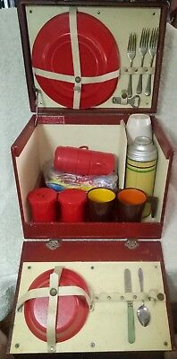 "Vintage Picnic Set LILLIVALE ""Picnic Pack"" Rosenthal Leather Creations NSW"