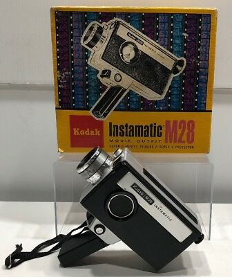 Vintage Kodak Instamatic Movie Camera M24 Super 8 Made In USA - Comes With OGBox