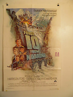 Force 10 From Navarone 1978  movie poster + 8 Lobby cards Lot  Harrison Ford